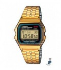 Reloj Casio retro digital dorado. - A-159WG-1