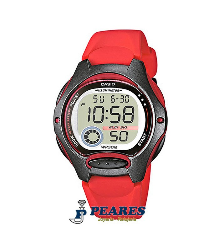 Reloj Casio digital rojo. - LW-200-4A