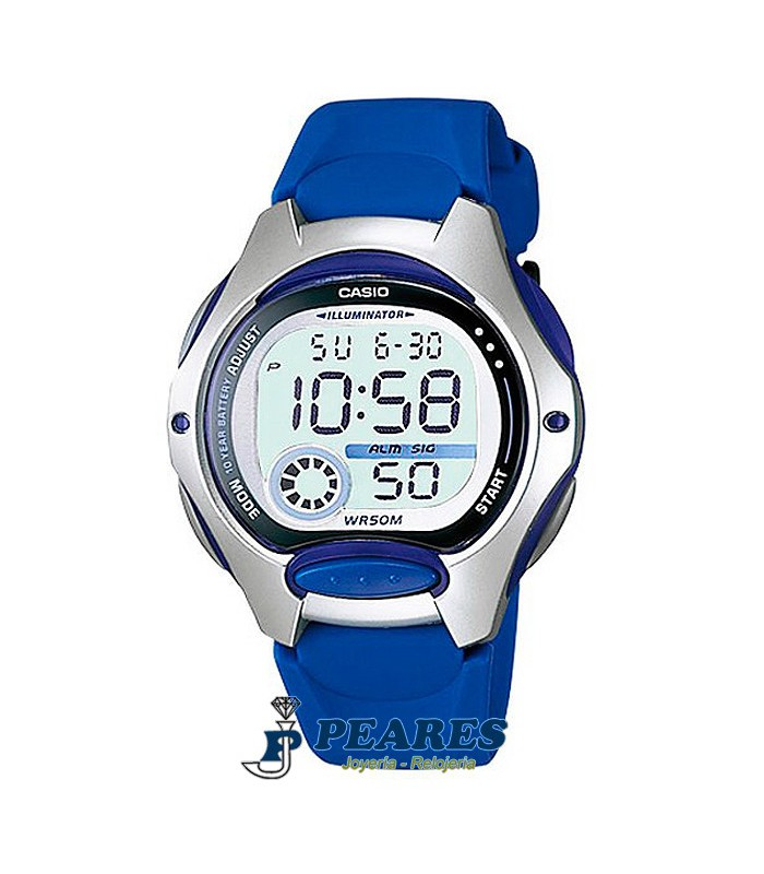 Reloj Casio digital azul. - LW-200-2A