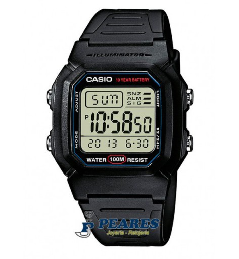 Reloj Casio digital. - W-800H-1A