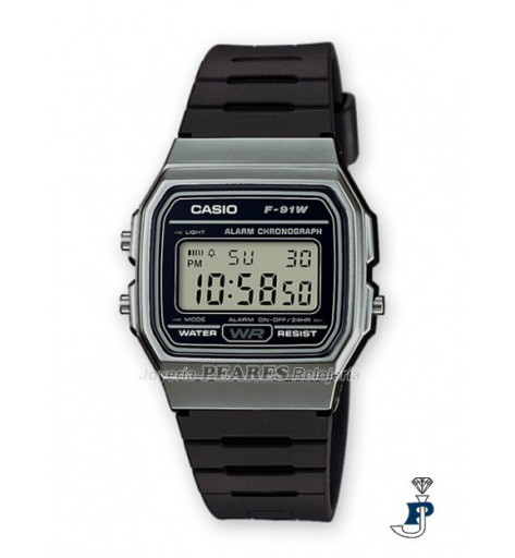 Casio Digital gris - F-91WM-1B