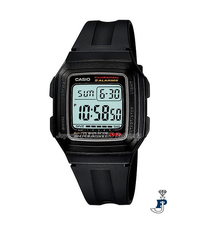 Reloj Casio digital. - F-201W-1A