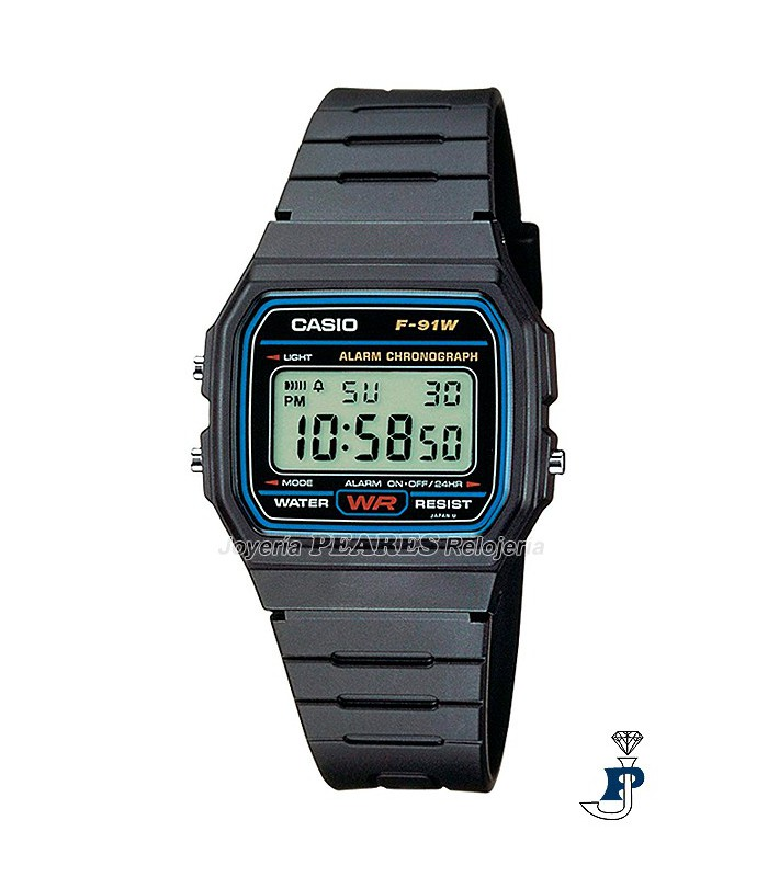 Casio digital clásico. - F-91W-1DG
