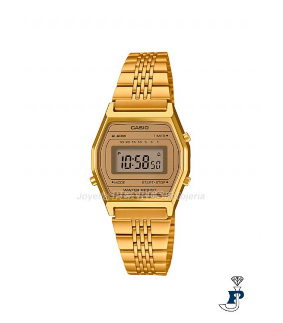 Reloj Casio digital Retro dorado. - LA-690WEGA-9E