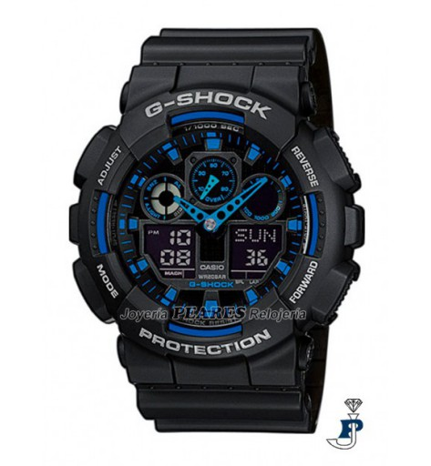 Reloj Casio analógico y digital, G-SHOCK. - GA-100-1A2ER